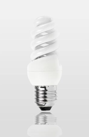 Energy saving fluorescent light bulb photo