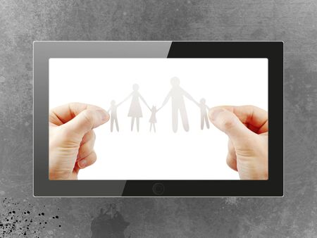 Black generic tablet pc, 3d render. Stock Photo - 15007228