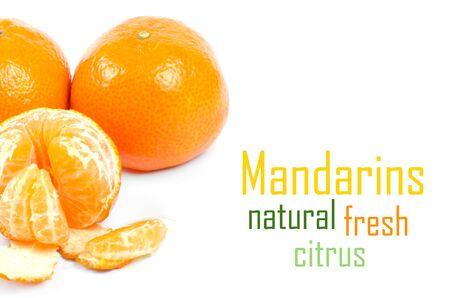 Mandarins isolated on white background Stock Photo - 15105575