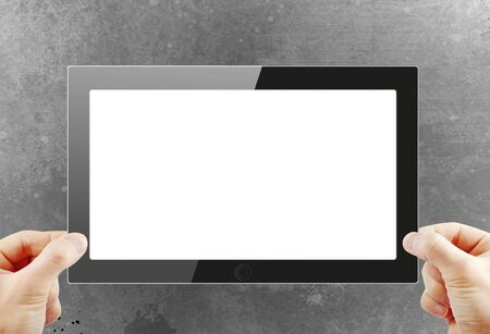 Black generic tablet pc, 3d render Stock Photo - 15249885