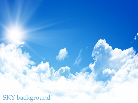blue sky background photo