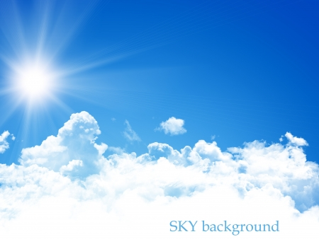 blauwe hemel achtergrond Stockfoto
