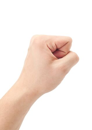 Fist. Gesture of the hand on white background Stock Photo - 15882872