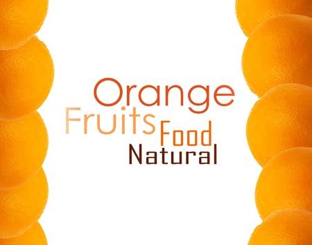 orange cut: orange background isolated on white Stock Photo