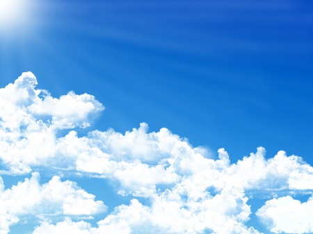 blue sky background with tiny clouds Stock Photo - 15883251
