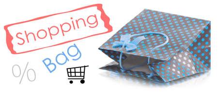 isolaten: Beatiful shopping bag isolaten on white background Stock Photo