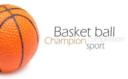 basketball team: Orange basket ball, photo on the white background Stock Photo