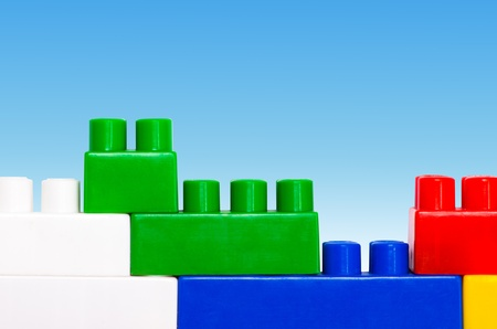Plastic construction blocks photo