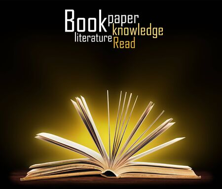 Book  Opened book with special light  Education Stock Photo - 17235717