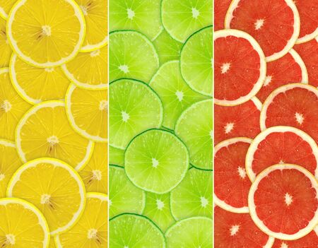 Abstract background of citrus slices  Closeup  Studio photography  photo
