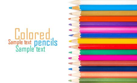 Set of color pencils for creativity on a white background Stock Photo - 17370004
