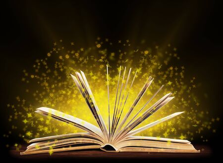Book. Opened book with special light. Education Stock Photo - 17462867