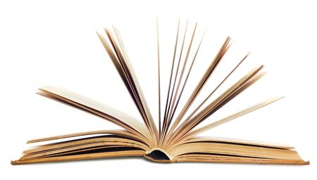 Open book isolated on white background Stock Photo - 17484143