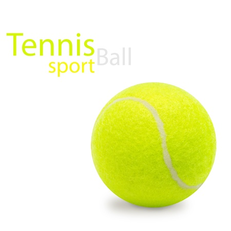 Tennis ball isolated on white Reklamní fotografie - 17579801