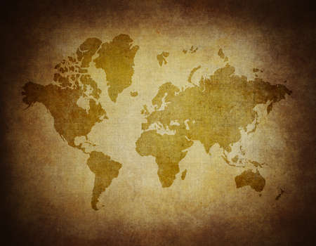 Map world on paper background Style Grunge Stock Photo - 17579950