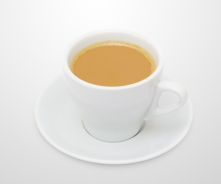 Coffee espresso isolated on white + Clipping Path photo