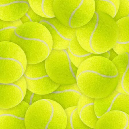 Lots of vibrant tennis balls photo