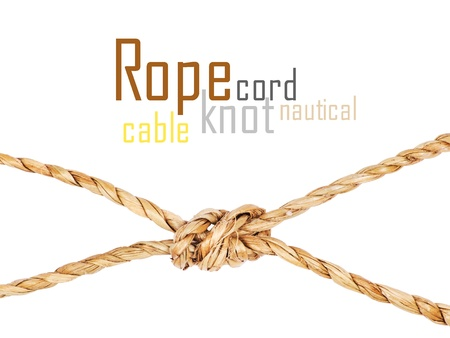 rope with knot, isolated on white photo