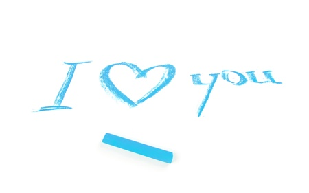 lovingly: I Love You words Stock Photo