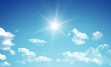 Blauwe lucht Stockfoto