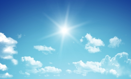 beautiful heaven: Blue sky  Stock Photo