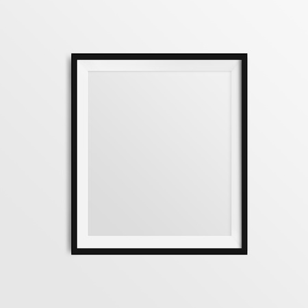 blank frame on a white background photo