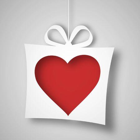 Paper heart Stock Photo - 18910353