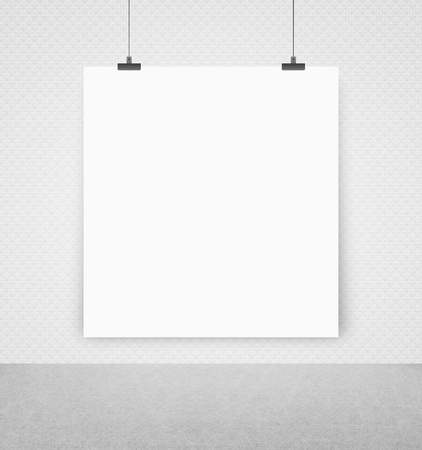 white poster on a wall photo
