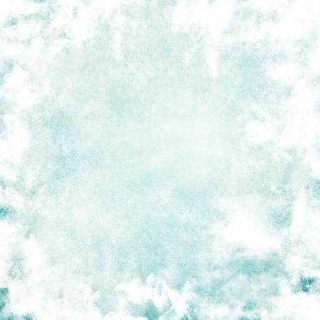 Grunge image of blue sky. photo