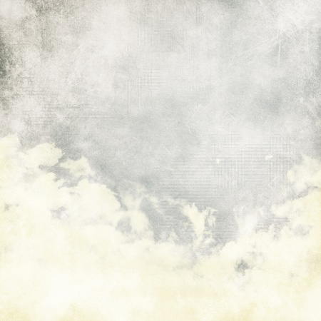 Water color like cloud on old paper texture background photo