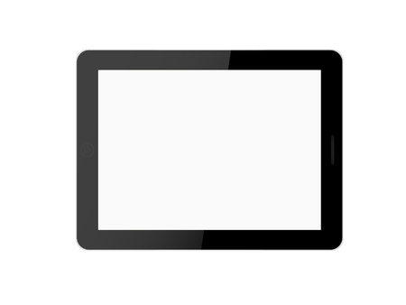 Tablet computer (tablet pc) on white background.  photo