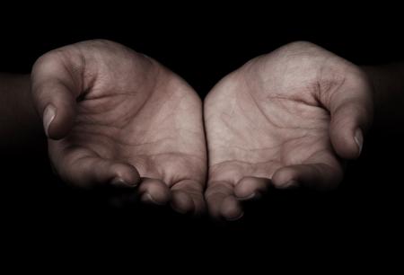 Vrouwelijke handen als bedrijf iets.