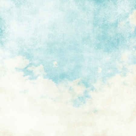 Water color like cloud on old paper texture background Reklamní fotografie - 19280551