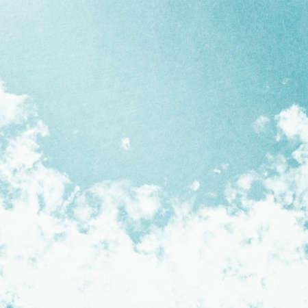 blue toned: Grunge image of blue sky