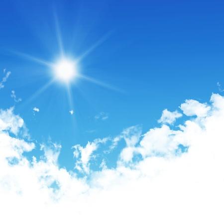 Mooie witte wolk aan de hemel