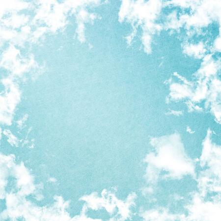 blue toned: Grunge image of blue sky. Stock Photo