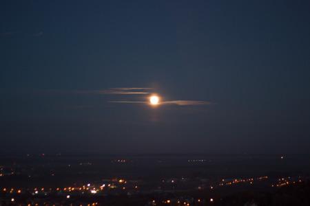 Moon on city photo