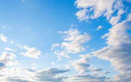 heaven background: blue sky background with tiny clouds Stock Photo