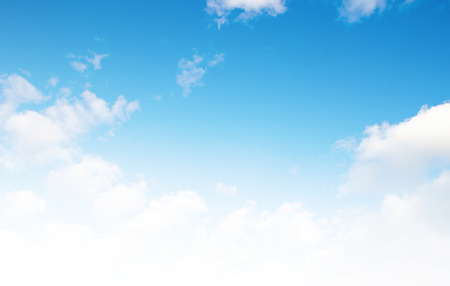 blue sky background: beautiful sparse clouds in the blue sky