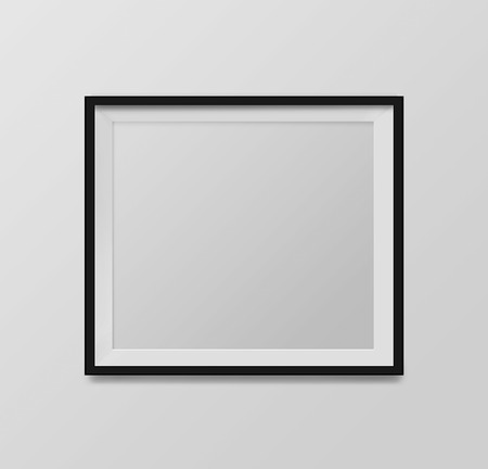 blank frame on a white background Imagens