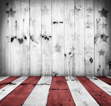 USA style background - empty wooden table for display montages Stock Photo - 28207392