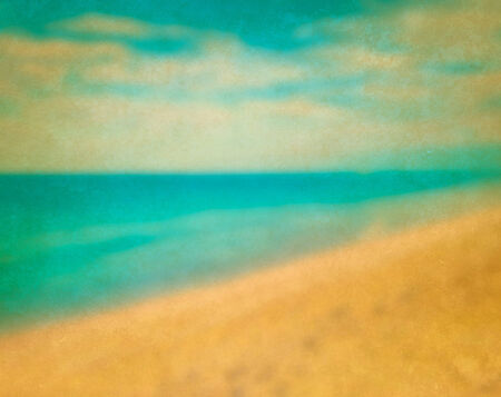 Vintage blurred background of tropical sea photo