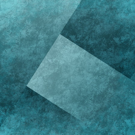 old parchment: blue background or black background with old parchment vintage grunge background texture in art abstract background block layout design on blue paper is faded distressed background grungy shapes Stock Photo