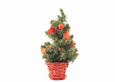 dacorated: Christmas tree isolated on white
