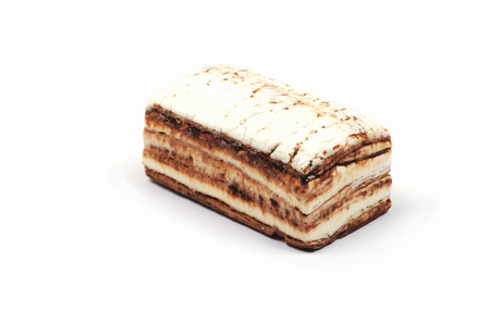 nus: Piece of nougat  on white background