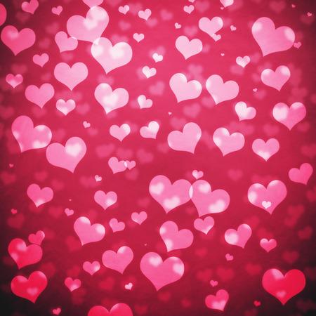 shiny hearts: Shiny hearts bokeh light Valentines day background