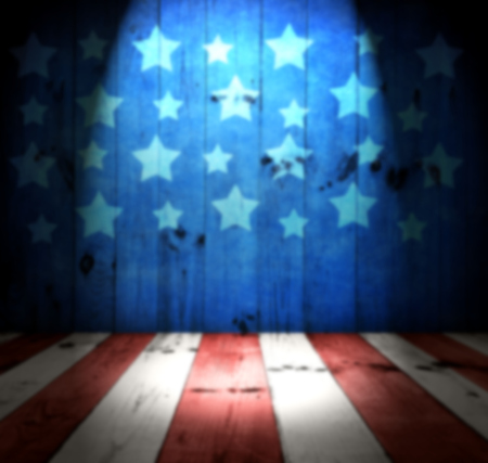 the memorial: USA style background - empty wooden table for display montages