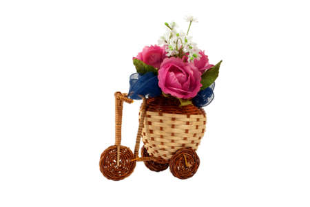 corazones: Decorative bicycle vase with flowers