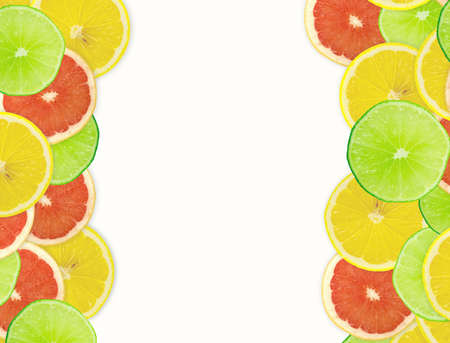limon: Abstract background of citrus slices. Closeup. Studio photography. Stock Photo