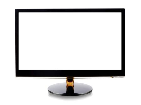 pc screen: Computer monitor isolated on white
